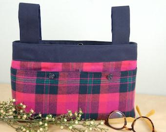 Walker Bag:  Great Hot Pink and Navy Blue plaid Bag.