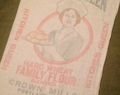Vintage Kitchen Queen Flour Sack - Portland Oregon Mill