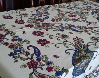 NEW - Tablecloth with classical Turkish/Ottoman design -  large rectangle