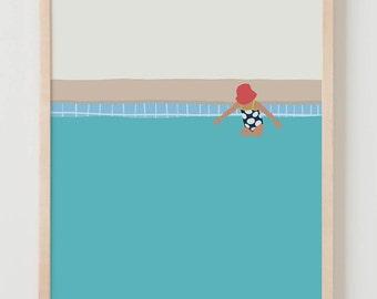 Fine Art Print. Girl in the Pool. July 2, 2014.