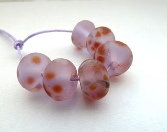 pink tumbled lampwork beads uk