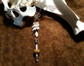 rattlesnake vertebrae necklace. real bones. snake bones. horn & wood beads.