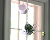 Hanging Planters, two hanging planters, round hanging planters.  Handmade ceramic planters, orb planters in stock and ready to ship!