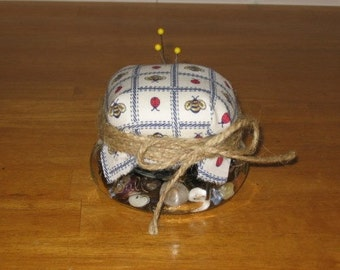 Canning Jar Pincushion Digital Pattern from Sew Practical, Mom and Pop Craft