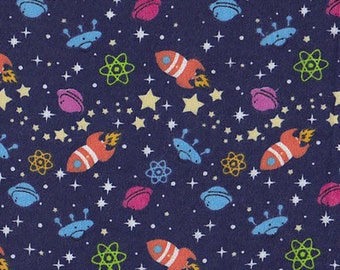 Outer space fabric etsy for Outer space fabric by the yard