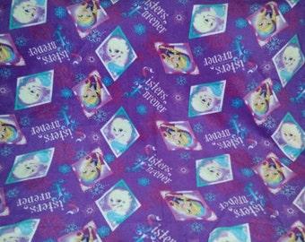 Disney Frozen - Elsa and Anna Crocheted Fleece Blanket