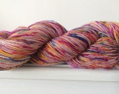 "Hand Dyed Bluefaced Leicester Sock Yarn HT 100g 365m ""I really don't know what happened"""