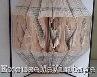 FAITH Folded Book Art - Made To Order - 7 Days Processing Time- Unique Gift