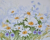 Finished / Completed Cross Stitch - Lanarte (34787) Daisies - crossstitch counted cross stitch