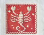 Finished / Completed Cross Stitch - Lanarte - Red Signs of the Zodiac: Scorpio (34979) crossstitch counted cross stitch