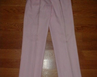 VP Collection Pink Pleated Linen  Pants/Slacks *Lined*High Waist* Pretty Color