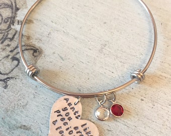 Aunt gift. Aunt bracelet. Hand Stamped charm bracelet. Aunts like you are precious and few. Gift for aunt - Aunt jewelry. Mother's day gift