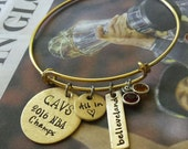 Cleveland Cavaliers Championship hand stamped bangle - NBA jewelry- Cavaliers Jewelry- Hand Stamped Cleveland Cavaliers