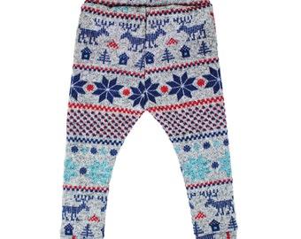 Fair Isle Moose Sweater Leggings