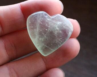Fluorite Stone Heart #47046