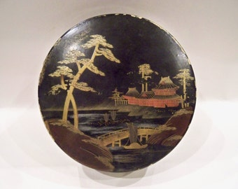Oriental Lacquered Round Box