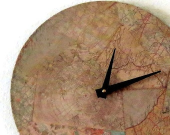 CIJ Sale, Unique Wall Clock, Map Clock, trending Map Decor,  Home and Living,  Decor & Housewares, Home Decor, Unique Gift