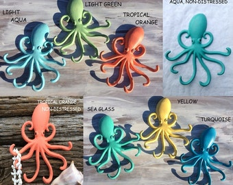 Octopus Wall Hooks/Nautical/Beach/Nursery/Child's Room