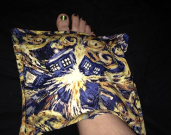 Doctor Who Van Gogh Hot and Cold Rice Bag