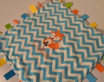 Fox Sensory Tag Blanket