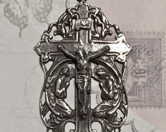 Holy Angels Sterling Silver Rosary Crucifix