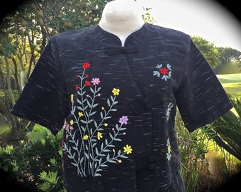 Vintage BarkCloth  Embroidered 40s Tahitian Vacation Set Immaculate  I Love  Lucy Style Hollywood Beauty Size Large