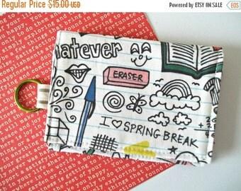 HALLOWEEN SPECIAL SALE Kawaii Wallet -  Business Card Holder - Keychain Wallet - Kawaii Fabric - Lunch Money Wallet - Teacher Gift