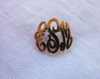 Initial Brooch - Victorian Style - Vintage
