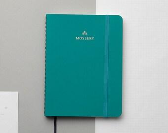 Emerald Gold Foil Personalized Notebook/Sketchbook