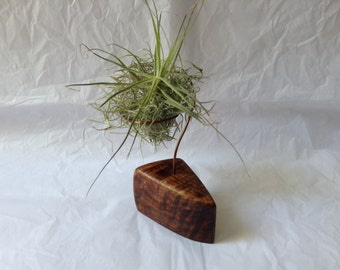Koa and Copper Air Plant Holder