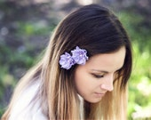 714_Bridal flowers, small bridal flower, lilac wedding flower, purple bridal flower,Floral hair accessories,flower hair accessory, Hair pins