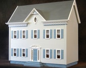 The Charming Urban Suburban Wooden Dollhouse Kit, Scale One Inch