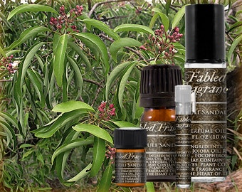 PATCHOULI SANDALWOOD - Perfume Oil with Patchouli, East Indian Sandalwood, Amyris - VEGAN Solid Perfume, Bohemian, Ships Out in 4-7 Days