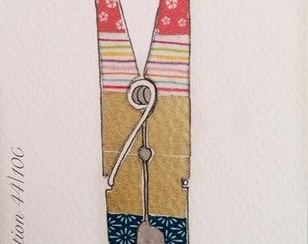 "Daily Illustration # 44/100 ""Clothespin"" Original Hand Drawn Art"