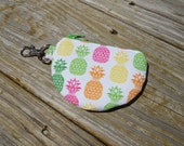 Mini Pouch, Earbud Pouch, Change Pouch, Pineapples, One of a Kind