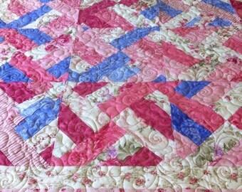 Sale Quilt handmade Lap Quilt patchwork