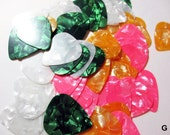 Guitar Picks Celluloid Pearloid for Jewelry Making and Crafts 50 Bag 847G