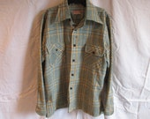Vintage McGregor Mens Plaid Shirt Large Made in USA
