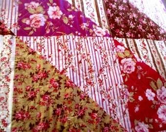 """QUILT ... Vintage Patchwork Quilt Comforter King sz  Purple, Lavender & Brown 88 x 100"""""""