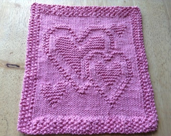 It's Only Love Knitted Dishcloth/Washcloth (READY TO SHIP!)