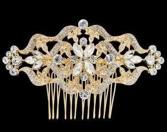 Large Flower Hairpin Women Hair Comb for Bridal Wedding Hair Jewelry Accessories Pageant Headpiece FA5044