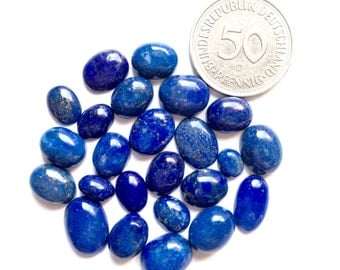 Lapis Lazuli Natural Gemstones small size hand polished Cabochons lot jewelry making like pendants rings necklaces finegemstone supplies