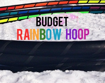 Budget Rainbow Interior Grip Dance & Exercise Fitness Hula Hoop - COLLAPSIBLE or Push Button