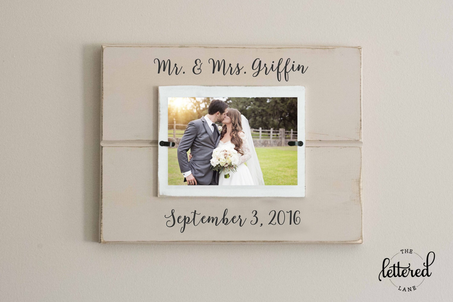 Mr and mrs frame  Etsy