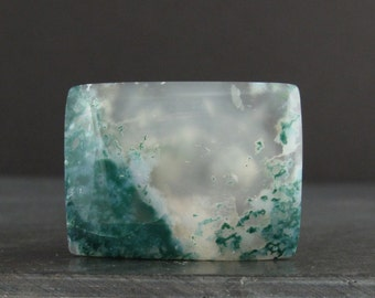 AAA green moss agate cabochon , Jewelry making supplies S6927