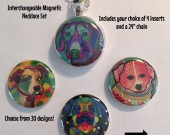 Interchangeable Magnetic Dog Necklace or Bracelet