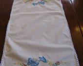Vintage Butterfly table scarf