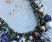 Vintage Cross Charm Necklace