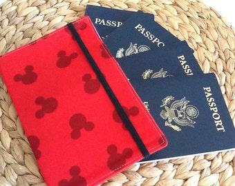 Disney Passport Holder, Family Passport Cover Holds 2, 4, 6 Passports, International Travel, Disney Inspired, Disney Cruise Travel Accessory