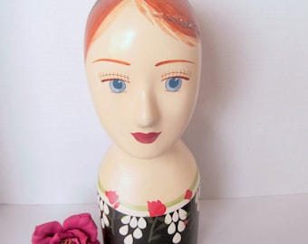Hand Painted Mannequin Head Hat Display